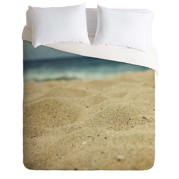 Leah Flores Sandy Beach Duvet Cover