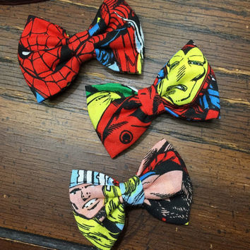 Marvel Heroes Baby Girl Hair Bows - Set of 3