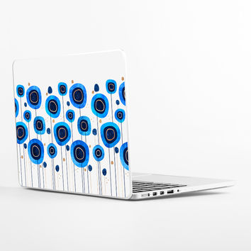 Floral Blues Laptop Skin