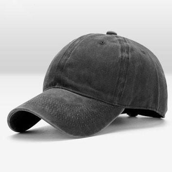 Vintage Washed Dyed Cotton Hats Twill Low Profile Plain Adjustable Dad Hat Baseball Caps