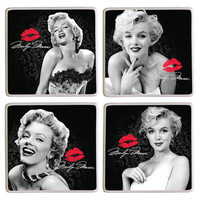 Vandor Marilyn Monroe™ 4 Piece Coaster Set