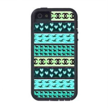 red hollister seagulls chanel sign hearts stripes for iphone 5s case