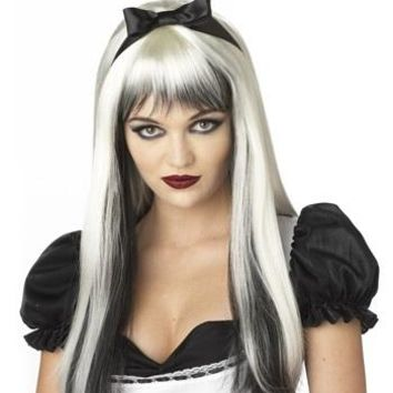 Dark Alice Enchanted Tresses Wig, Platinum Blonde with Black highlights