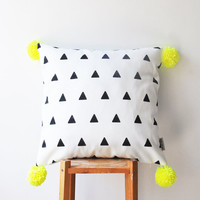 Geometric Triangle Pillow