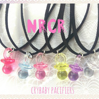 Crybaby pacifier Necklace, assorted colors