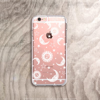 Sun Moon and Stars Phone Case Clear