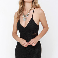 Traveling Menagerie Black Lace Dress