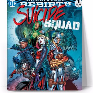 Harley Quinn Suicide Squad Comic Book Cover Canvas Art
