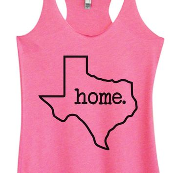 Womens Tri-Blend Tank Top - Texas Home