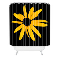 Romi Vega Yellow Flower Shower Curtain