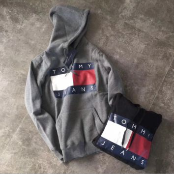 """Tommy Jeans"" Women Fashion Hooded Top Pullover Sweater Sweatshirt Hoodie"