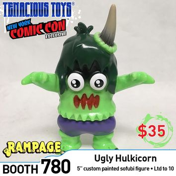 Ugly Hulkicorn 5-inch sofubi by Rampage Toys PREORDER