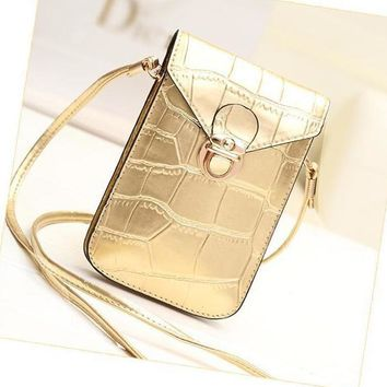 Small Shoulder Crossbody Bag Purse Leather Cellphone Pouch for Travel Daily Use