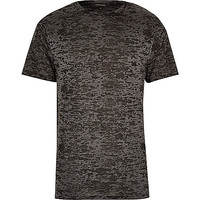 River Island MensGrey burnout t-shirt