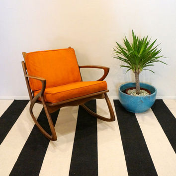 Mid Century DANISH MODERN Vintage Rocking Chair