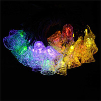 40 LED 25ft 8 Modes Bell Solar Christmas Solar Lamp Waterproof Led Outdoor Lighting Novelty Decorative Fairy String Light