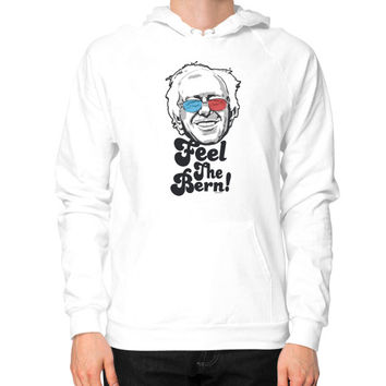 Bernie Sanders Pop Art Portrait  Hoodie (on man)