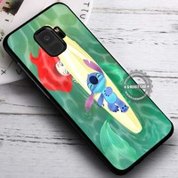 Mermaid and the Cute Creature Stitch iPhone X 8 7 Plus 6s Cases Samsung Galaxy S9 S8 Plus S7 edge NOTE 8 Covers #SamsungS9 #iphoneX