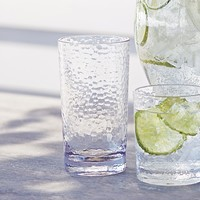 Hammered-Acrylic Highball Glasses, Set of 4   Sur La Table