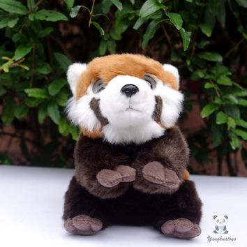 Cute Big Eyes Red Panda Stuffed Animal Plush Toy 7""