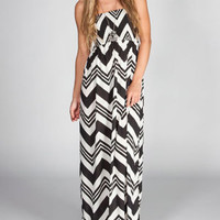 FIRE Smocked Chevron Maxi Dress 225186125 | Maxi Dresses | Tillys.com