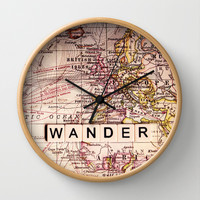 wander Wall Clock by Sylvia Cook Photography