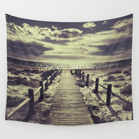 To the beach.... Wall Tapestry by Guido Montañés