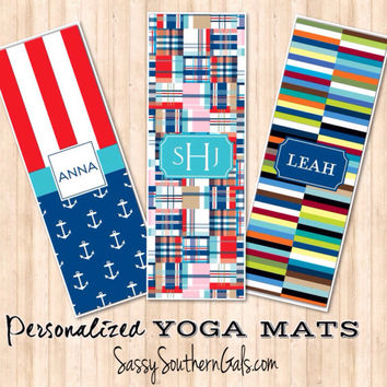 Yoga Mat, Monogrammed / Personalized Yoga Mat, Design Your Own Yoga Mat, Monogram Gift