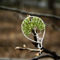 Peridot Tree of Life Brooch, Tree of Life Pin,  August Birthstone, Family Tree, Grandmom Gift, Mothers Gift, Sentimental Unique Gift