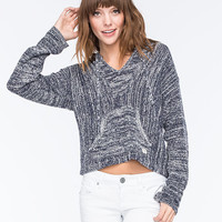 Billabong Baja Crop Womens Poncho Sweater Navy  In Sizes