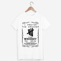 5 sos 5 second of summer iprefer the drummer jack daniels whiskey logo T Shirt