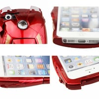 Iron Man Mark VII Collectible Toy Case For iPhone 4 4S 5 5S - Avengers LED Armor