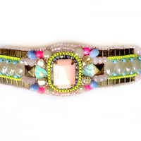 Beaded beauty in #pastels with #neon accents (free international shipping)