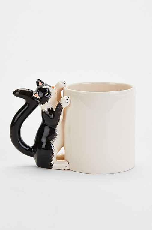 Plum Amp Bow Climbing Cat Mug From Urban Outfitters