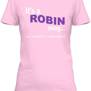 It's a ROBIN Thing...
