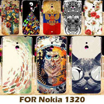 AKABEILA Cool Design Hard Plastic Case For Nokia Lumia 1320 Covers 6.0 Inch Mobile Phone Shell Cover Protective Shell Backh