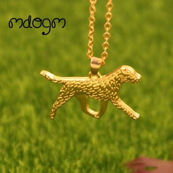 2017 New Cute Border Terrie Necklace Dog Animal Pendant Gold Silver Plated Jewelry For Women Male Female Girls Ladies Kids N111