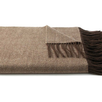 Herringbone Throw, Light Brown
