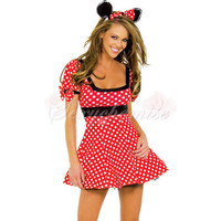 Charming Sexy Cat Mickey Mouse Cartoon Costumes Red [TQL120321088] - £20.59 :