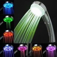 7 Colors Changing LED Shower Head Light Shower Faucet Bathroom,Gradient Color