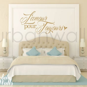 Vinyl Wall Sticker Decal Art - L'amour pour toujours