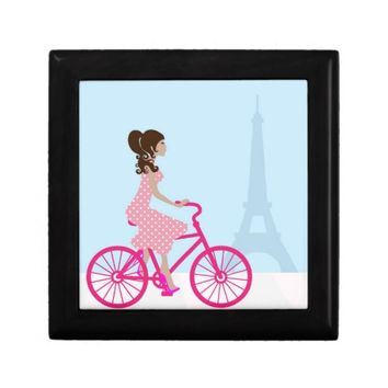 Biking in Paris Jewelry Box
