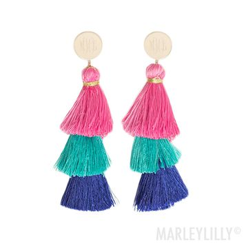 Monogrammed Tassel Earrings | Marleylilly