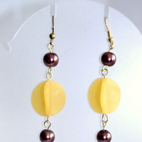 Three Dimensional Dangle Earrings