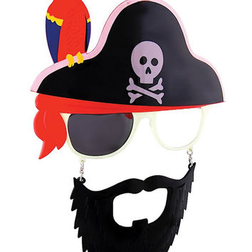 Sun Staches Pirate W-parrot