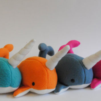 Narwhal Plush CHOOSE YOUR COLOR