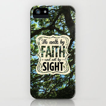 2 Corinthians 5:7 Faith not Sight iPhone Case by Pocket Fuel | Society6