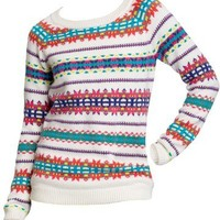 Old Navy Womens Multi Patterned Crew Sweaters