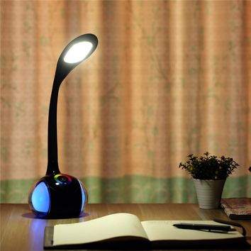 T1 Fashion  portable multi-function Bluetooth speaker touch control dimming led music table lamp& USB charge function