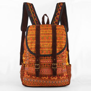 Ethnic Backpack HMONG Hand Stitched Gypsy Hippie Bohemian Boho style